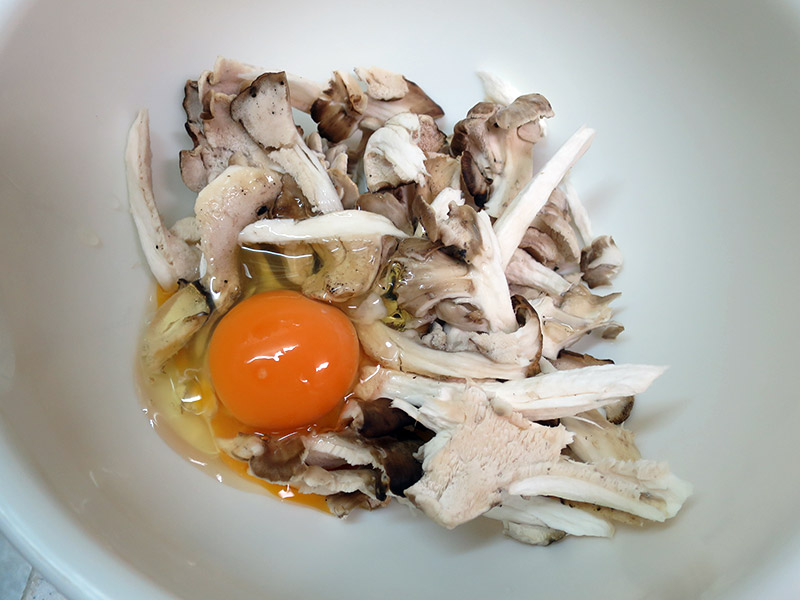 マイタケの卵とじ